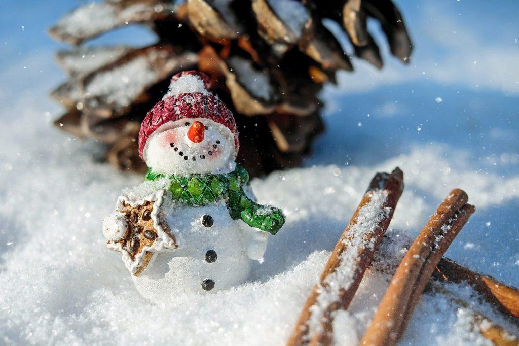 snowman, snow, winter